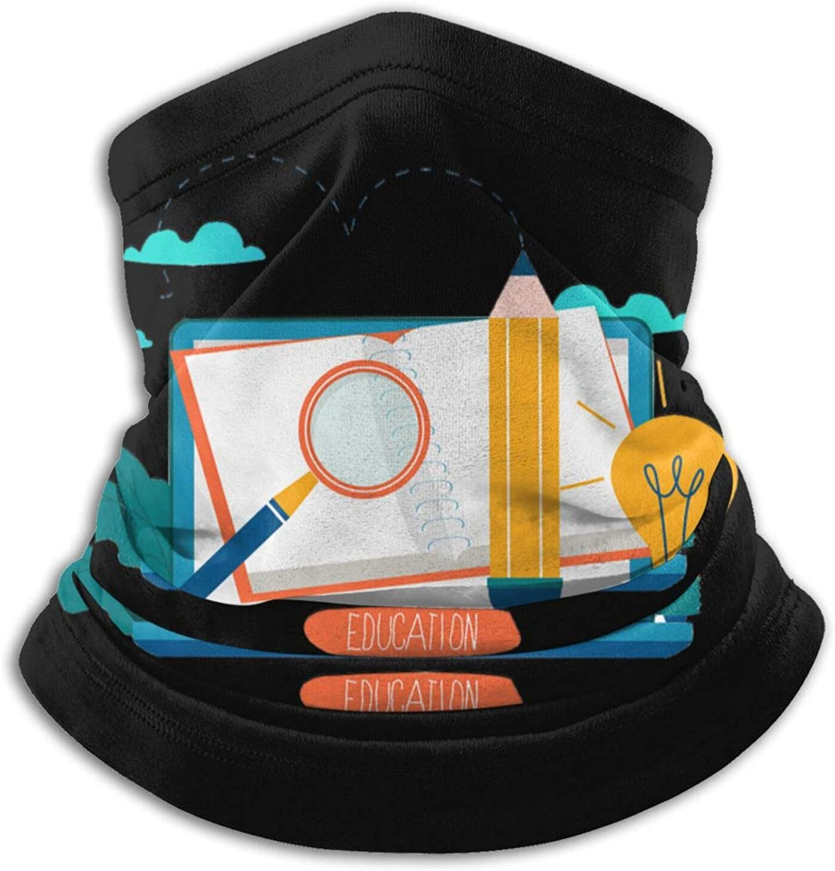 Winter Neck Gaiter Warmer Soft Face Mask Scarf Studying Outdoor Sports Neck Warmer Headwear for Men Women Black