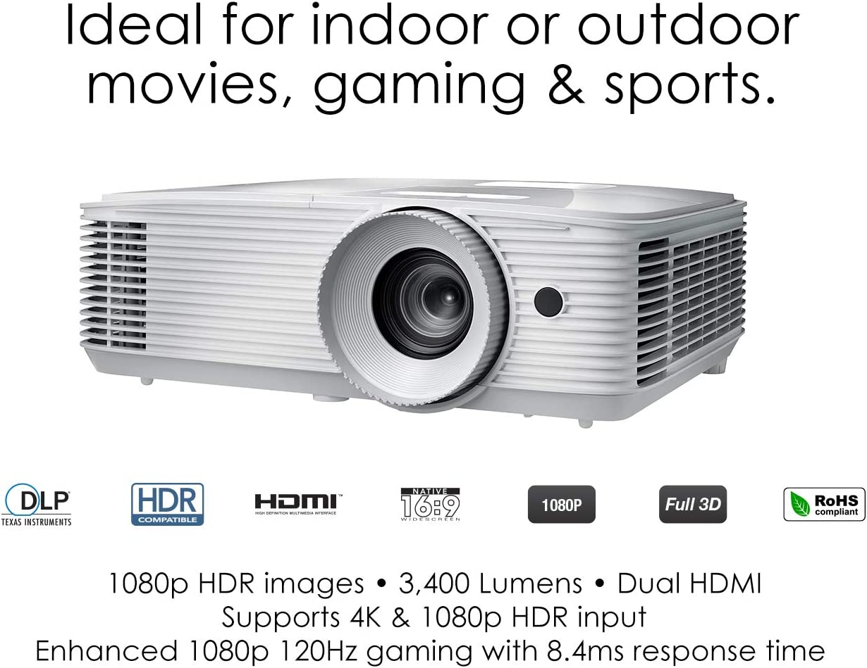Buy Optoma HD20HDR 20p 20K HDR Ready Home Theater Projector for ...
