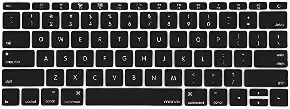 MOSISO Silicone Keyboard Cover Protective Skin Compatible with MacBook Pro 13 inch 2017..