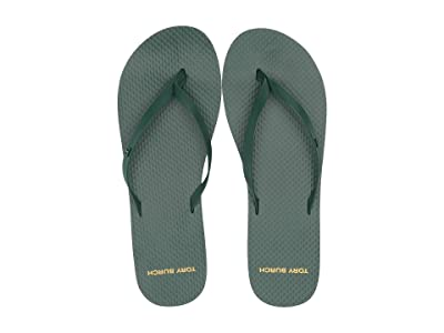 Tory Burch Leather Flip-Flop (Malachite/Malachite) Women