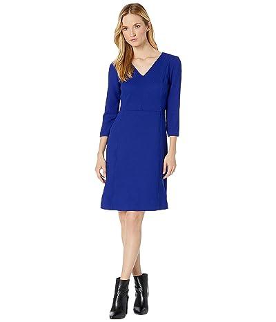 LAUREN Ralph Lauren Dobby Fit-and-Flare Dress (Cannes Blue) Women