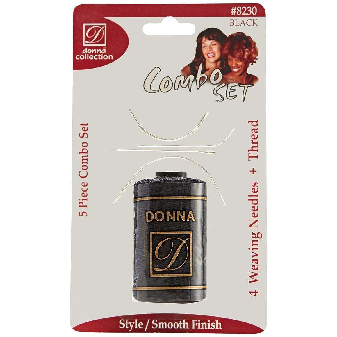 Donna Collection Black Weaving Thread & Needle Set