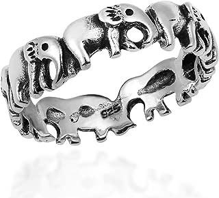 Enchanting Elephant Parade .925 Sterling Silver Band Ring