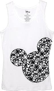 Disney Classic Mickey Mouse Junior Women Pajama T Shirt Tank Top - Checker Silhouette