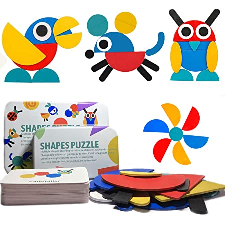 Colorful Wooden Animal Pieces Jigsaw Puzzle for Adults Kids Educational Toy Gift