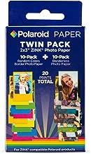 Polaroid 2x3 ZINK Photo Paper 10 Borderles sheets + 10 Border Photo Sheets (20 Sheets) For Zink Compatible Products.