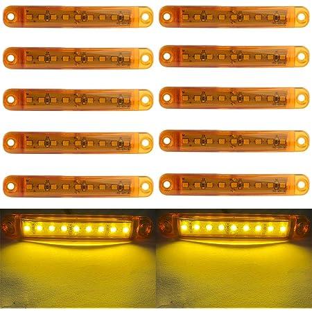 Led Seitenmarkierungsleuchten 10 Stücke Auto Externes Licht 9 Smd Led Seitenmarkierungs Anzeigelampe Vorne Hinten Seitenlicht Positionslampen 12 V Für Auto Gelb Auto
