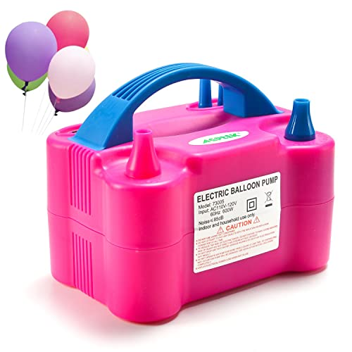 AGPTEK Electric Air Balloon Pump 110V 600W Portable Dual Nozzle Inflator Blower For Party