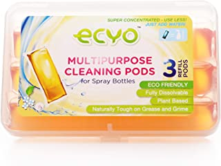 Ecyo Multipurpose Cleaning Pods with 3 Refill Pods, Kitchen, Glass, Shower, All-Purpose Eco-Friendly Cleaning Products