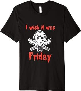 Halloween Funny I wish it was Friday Jason costume T shirt