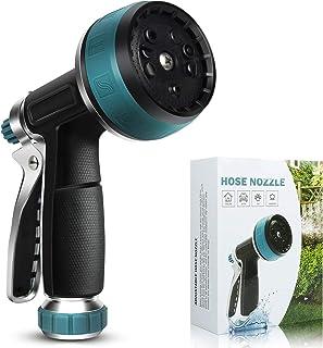 Garden Hose Nozzle - Water Hose Sprayer Nozzle, Aluminum Alloy Rubber Spray Gun with 10 Spray Patterns, Garden Sprayer for...