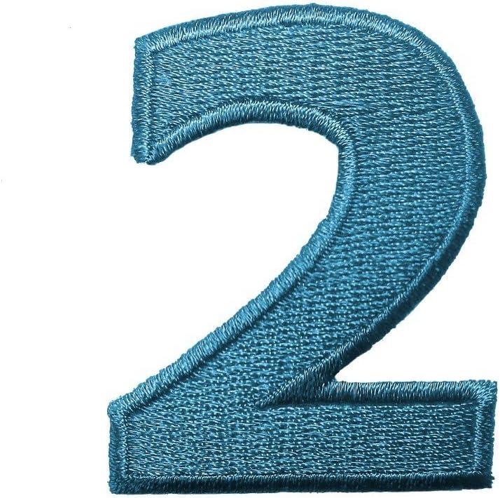 Zahlen MQ bunt//blau:Zahl 0-2.4 x 3.3 cm Alle Zahlen einzeln ausw/ählbar Zahl//Ziffer bunt Aufn/äher//Aufb/ügler