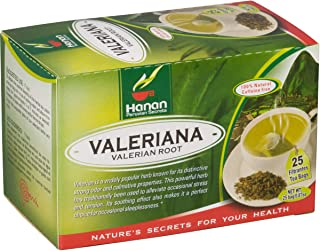 Valerian Root Tea - 25 Teabags - Peruvian Naturals | Natural Sedative and Sleep Aid,