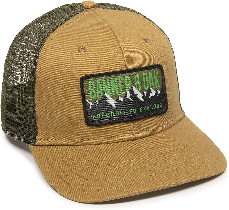 Bighorn Scout Patch Trucker Hat - Adjustable Baseball Cap w/Plastic Snapback Closure