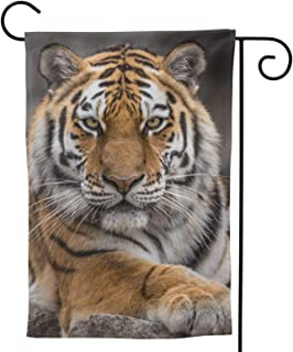 Tiger Garden Flag Animal House Flag Vertical Double Sided Yard Outdoor Decor Party 12.5 X 18 Inch