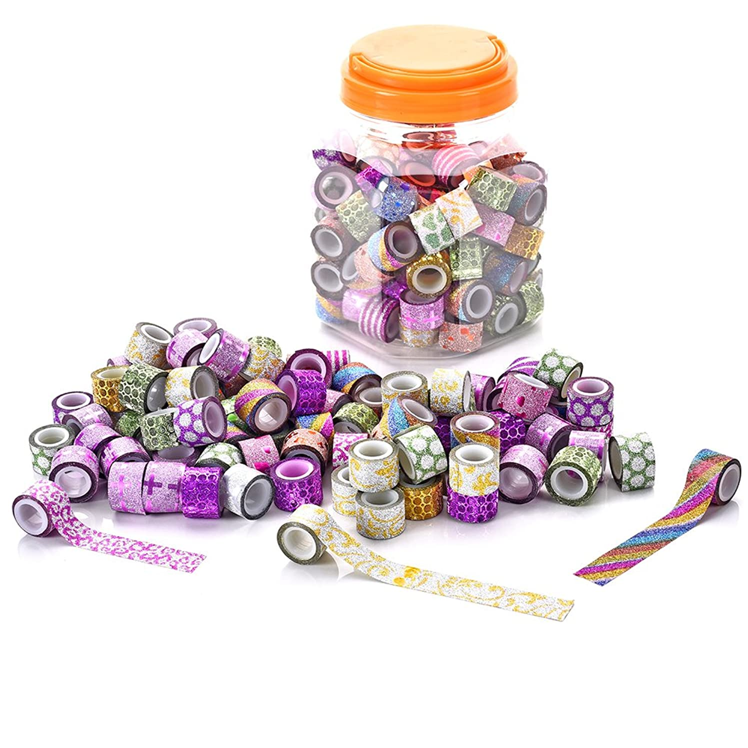 Dalus 90 Rolls Washi Tapes Set,Decorative Mini Masking Washi Tapes for DIY Crafts and Kid Gifts