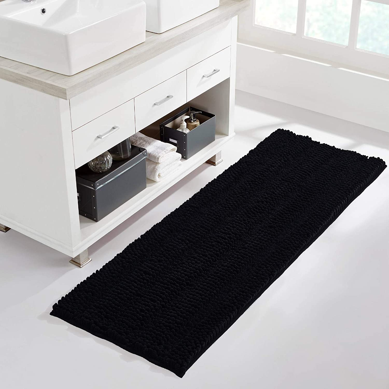NICETOWN Black Bathroom Floor Mat Omaha Bargain sale Mall Anti-S Rugs for Entryway Dog