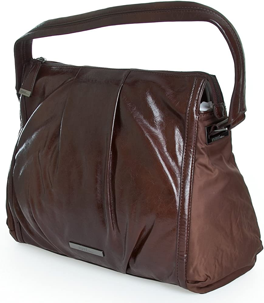 gianfranco ferré borsa a spalla per donna in pelle sintetica wx5bmd_marroneu252
