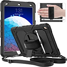 Timecity iPad Air 3rd Generation Case,iPad Pro 10.5 Case.Full Body Rugged Protective Case with Rotatable Hand Strap/Stand Screen Protector Pencil Holder for iPad Air 3 2019/iPad Pro 10.5