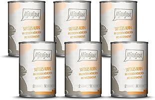 MjAMjAM - Mokra karma dla kotów klasy premium – soczysta kurczak na pysznych marchewkach, 6 szt. (6 x 400 g), nie...