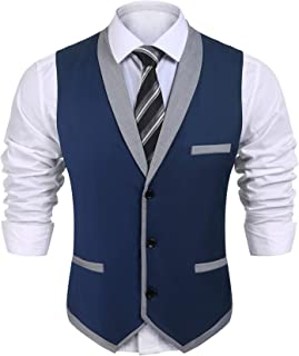 Men's Suit Vest Slim Fit Business Wedding Vests Dress Waistcoat