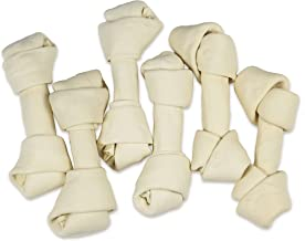 Hotspot Pets 6-7 Inch USDA Certified Facility Rawhide Dog Chew Bones - Choice of 10, 20, 30 Packs - from Grass Fed Brazilian Cows - Promotes Dental Hygiene and Good Behavior