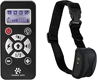 Shock Collar For Dogs by Hot Spot - Rechargeable Waterproof LCD Dog Training Collar 800 Yard Range W/ Dog Training Modes Vibration, Static Shock & Tone