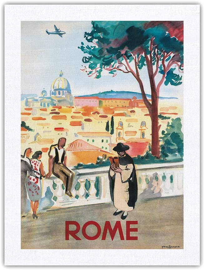 Rome Italy - St. Peters Vintage Basilica Selling and selling Classic Airline Travel Poste