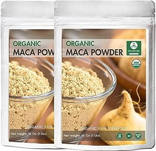 Naturevibe Botanicals USDA Organic Maca Powder 2lbs (2 Packs of 1lb Each), Lepidium meyenii | Gluten-Free & Non-GMO | Raw Superfood