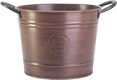 """8"""" Washtub Planter, Copper Colored Finish"""