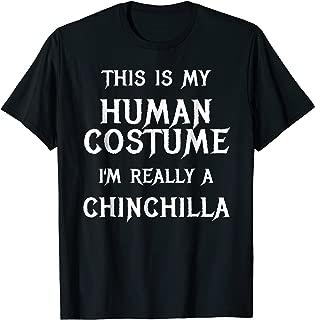 Chinchilla Halloween Costume Shirt Easy Funny Idea