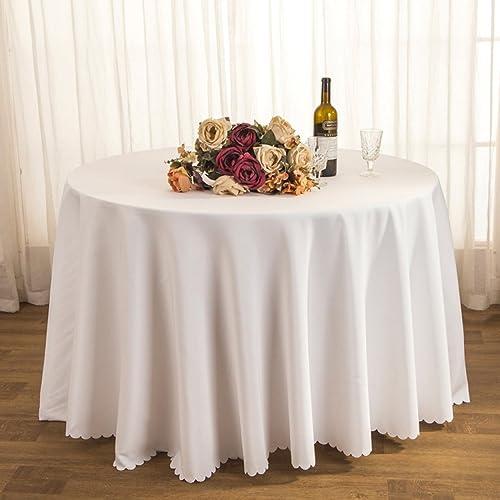 DONG Tischtuch Tischdecke Stoff Tee Tischdecke Hotel Restaurant Polyester Tischdecke Konferenztisch Rock Hochzeit Jacquard Runde Tischdecke  Beste ig Leicht zu reinigen (Farbe   C, Größe   20cm  )