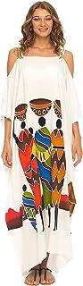 فستان طويل بتصميم كاجوال مكشوف الاكتاف للنساء من شو شي، فستان طويل للشاطئ