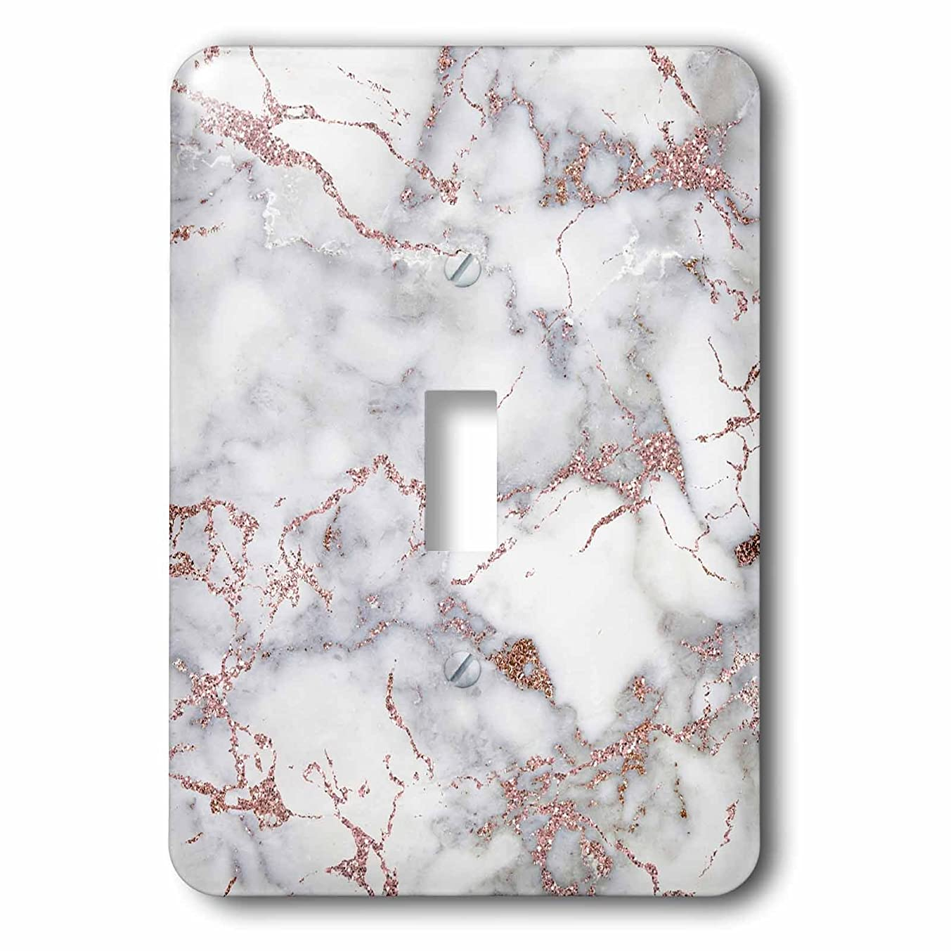 3dRose lsp_275086_1 Image of Shiny Luxury Trendy Rose Gold Glitter Marble Agate Quartz Toggle Switch, Mixed