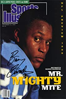 Barry Sanders Sports Illustrated Autograph Replica Super Print - Mr Mighty Mite - 9/10/1990 - Unframed