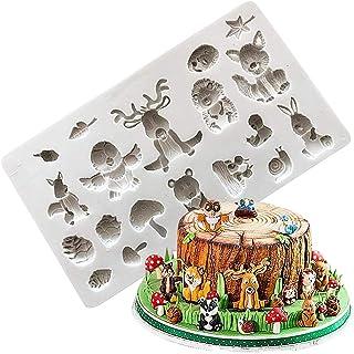 1PCS Forme de Moule en animal Silicone Antiadhésif,3D De Silicone Moule Fondant Gâteau Moules De Cuisson,Gâteau, Savon, Ge...