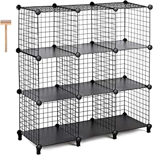 Best Seller In Bedroom Armoires · TomCare Cube Storage 9 Cube Metal Wire  Cube Storage Storage Cubes Shelves Cube Closet Organizer