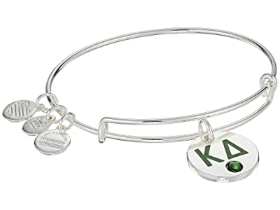 Alex and Ani Color Infusion Kappa Delta II Bangle (Shiny Silver) Bracelet