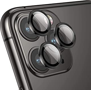 Coblue Camera Lens Protector for iPhone 12 pro | Max (6.1/6.7) inch, Premium HD Tempered Glass Metal Ring Aluminum Alloy L...