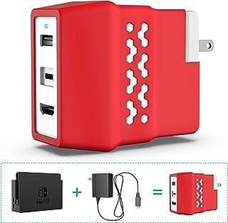 スイッチ充電 HDMI分配 両用アダプター ドック替換品 【PSE認証済】充電しながら プレー! HDMI変換アダプター 1080P 4K USB Type C to USB 3.0機能搭載 USB PD準拠他のUSB-Type-C製品も 対応