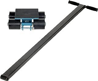 Vestil SSKT-3 Steerable Machinery Skate with 4 Nylon Roller, Steel, 11-1/2