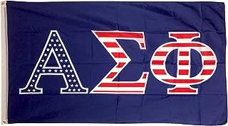 Alpha Sigma Phi USA Letter Fraternity Flag Greek Letter Use as a Banner Sign Decor Alpha Sig