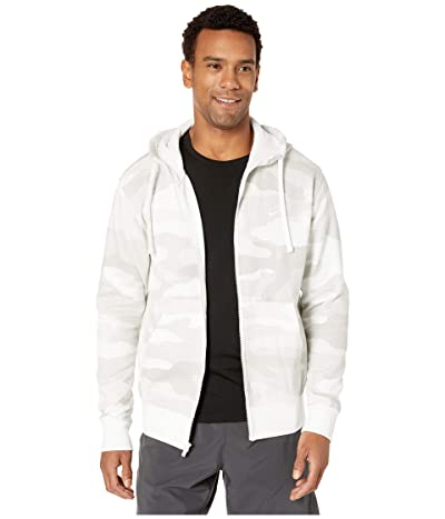 Nike NSW Club Hoodie Full Zip Camouflage (Light Bone/Summit White/Summit White) Men