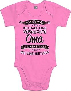Shirtoo Supersüßer Baby Body Strampler Finger Weg! Ich Habe eine verrückte OMA für Jungen und Mädchen als Geschenk zur Geburt/Erstausstattung