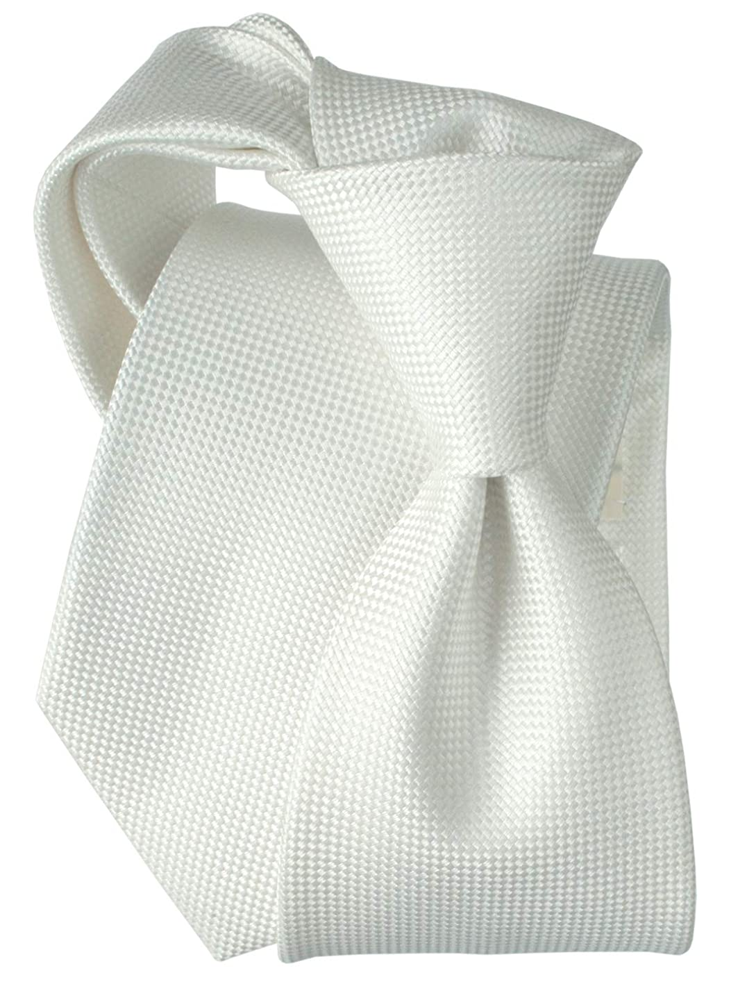 彼自身戦う自伝[エバーグレイス] ネクタイ 日本製 シルク メンズ おしゃれ フォーマル 結婚式 無地 ホワイト