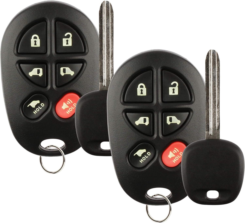 KeylessOption Keyless Entry Remote Control Fob Uncut Blank Car Key For GQ43VT20T