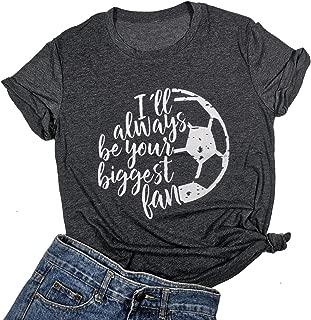 I'll Always be Your Biggest Fan Baseball Mom T Shirt Softball Cute Fashion Tops