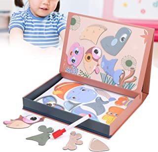 Magnetic Puzzle, Cultivate Thinking and Imagination Safe and Exercise Children's Hand‑eye Coordination Magnetic Puzzle Toy...
