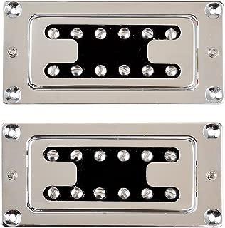LYWS Chrome Humbucker Bridge Neck Set Pickups for Rickenbacker Bass Guitar Parts C3