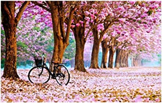 Jigsaw Puzzle Pink Memories Puzzles - Bicycle Lovers - 520/1000/1500 Piece Jigsaw Puzzle- Wooden Unique Cut Interlocking P...